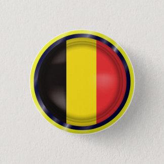Abstrakte Belgien-Flagge, Belgier färbt Knopf Runder Button 2,5 Cm