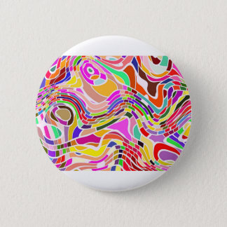 Abstrakte Bewegungs-Kunst in den hellen Farben Runder Button 5,7 Cm