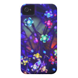 Abstrakte blaue Beleuchtungs-Blumen iPhone 4 Case-Mate Hülle