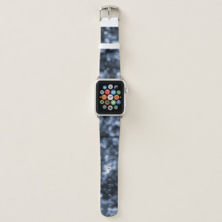 Abstrakte blaue Bokeh Punkte Apple Watch Armband