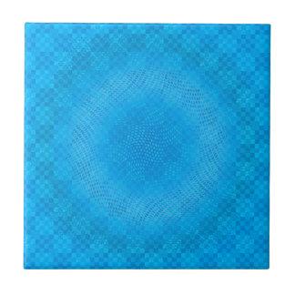 abstrakte blaue Masche checkered Fliese