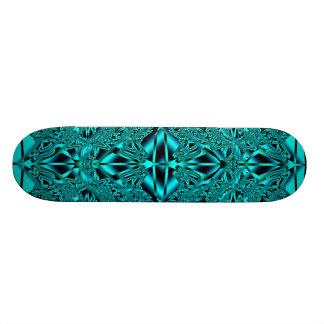 Abstrakte blaue Neonaqua-Kristall-Skate-Plattform 18,4 Cm Mini Skateboard Deck