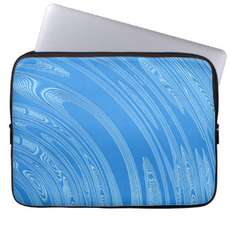 abstrakte blaue silberne metallische laptopschutzhülle
