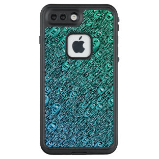 Abstrakte blaue und grüne Formen LifeProof FRÄ' iPhone 8 Plus/7 Plus Hülle