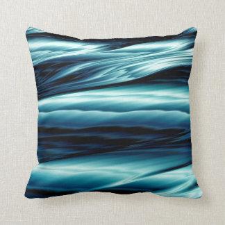 Abstrakte blaues Wasser-Wellen Kissen