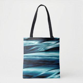 Abstrakte blaues Wasser-Wellen Tasche