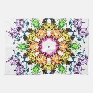 Abstrakte Blume Handtuch