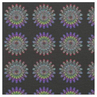Abstrakte Blume Stoff