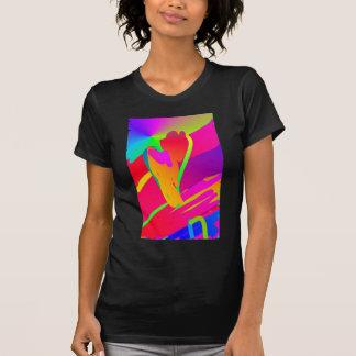 Abstrakte Blume T-Shirt