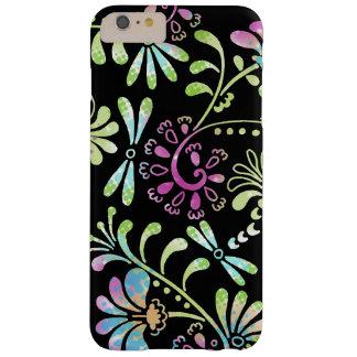 Abstrakte Blumen des Grüns und des Rosas Barely There iPhone 6 Plus Hülle