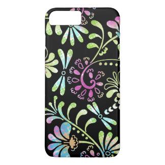 Abstrakte Blumen des Grüns und des Rosas iPhone 8 Plus/7 Plus Hülle