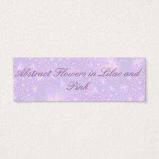 Abstrakte Blumen in der lila und rosa Karte