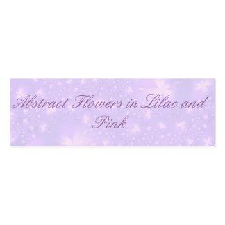 Abstrakte Blumen in der lila und rosa Karte Jumbo-Visitenkarten
