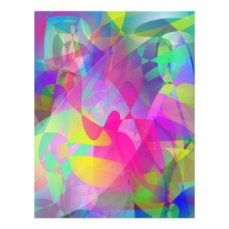 Abstrakte Blumen-Kunst Flyer Druck