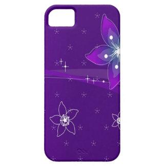 Abstrakte Blumen-lila verschiedenes Etui Fürs iPhone 5