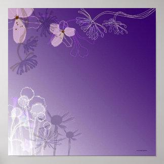 Abstrakte Blumen Poster