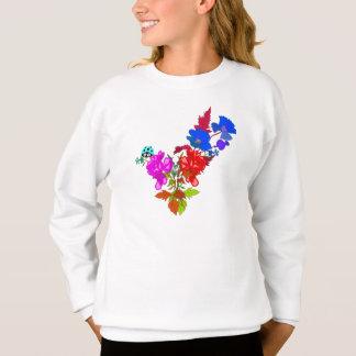 Abstrakte Blumen Sweatshirt