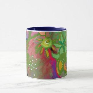 Abstrakte Blumenblumenstrauß-Tasse Tasse