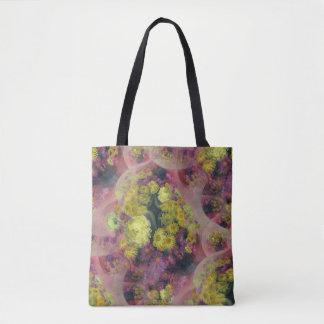 Abstrakte Blumenentwurfs-Taschentasche Tasche