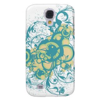Abstrakte Blumenverzierungen Galaxy S4 Hülle
