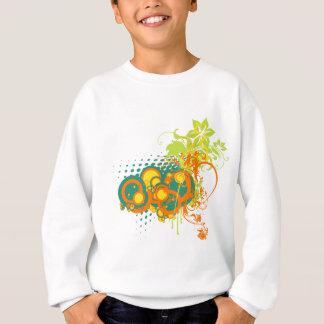 Abstrakte Blumenverzierungen Sweatshirt