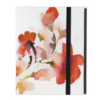 Abstrakte Blumenwatercolormalereien iPad Hülle