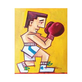 Abstrakte Boxermalerei auf Leinwand