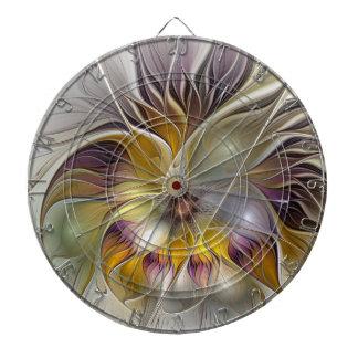 Abstrakte bunte Fantasie-Blumen-modernes Fraktal Dartscheibe