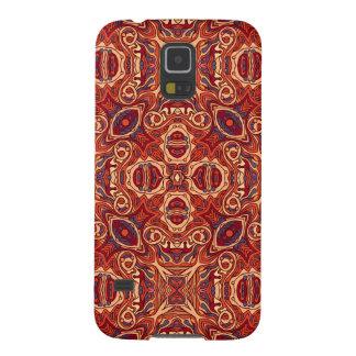 Abstrakte bunte Hand gezeichneter gelockter Galaxy S5 Cover