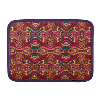 Abstrakte bunte Hand gezeichneter gelockter MacBook Air Sleeve