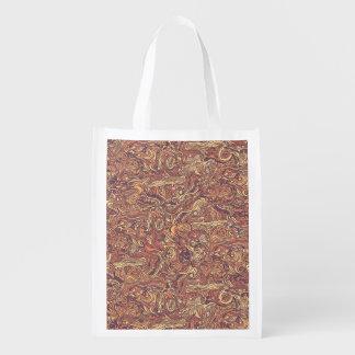 Abstrakte bunte Hand gezeichneter gelockter Wiederverwendbare Einkaufstasche