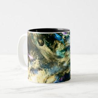 Abstrakte bunte kunstvolle Fotografie Zweifarbige Tasse