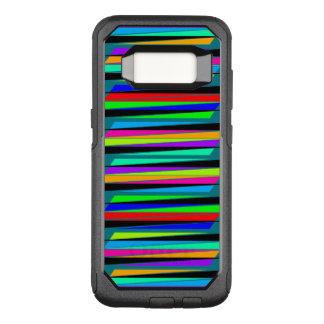 Abstrakte bunte Linien OtterBox Commuter Samsung Galaxy S8 Hülle