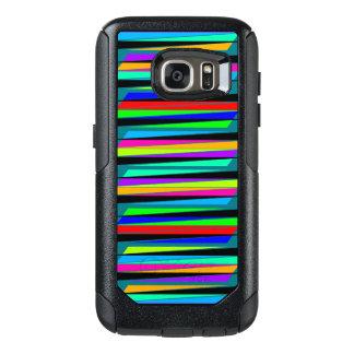 Abstrakte bunte Linien OtterBox Samsung Galaxy S7 Hülle