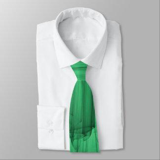 Abstrakte Bürste-Anschläge im Grün Krawatte