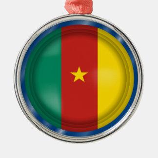 Abstrakte Cameroon-Flagge, Cameroon-Verzierung Silbernes Ornament