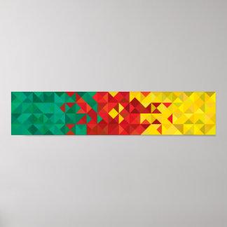 Abstrakte Cameroon-Flagge, Plakat Cameroon Afrika