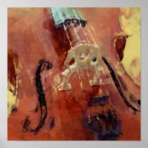 Abstrakte Cello-Brücke Plakatdruck