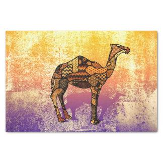 Abstrakte Collage Ozzy das Kamel ID102 Seidenpapier