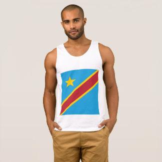 Abstrakte der Kongo-Flagge, die demokratische Tank Top