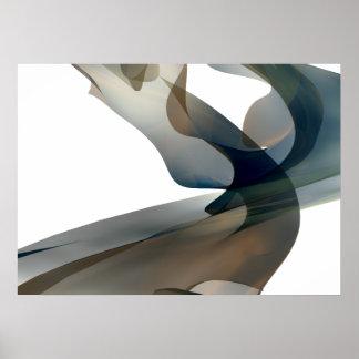 Abstrakte Digital übertragene Fraktal-Wand-Kunst Poster