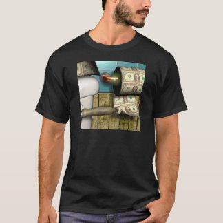 Abstrakte Dollar-Toiletten-Rechnungen T-Shirt