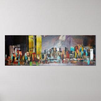 Abstrakte Doppeltürme 9/11 Poster