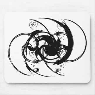 Abstrakte Drehung Mousepad