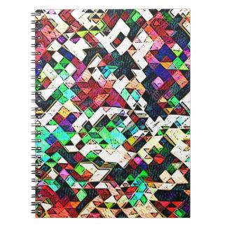 Abstrakte Dreiecke grafisch Notizblock