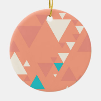 Abstrakte Dreiecke Keramik Ornament