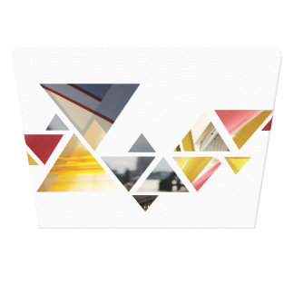 abstrakte Dreiecke Leinwanddruck