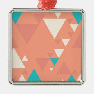 Abstrakte Dreiecke Silbernes Ornament