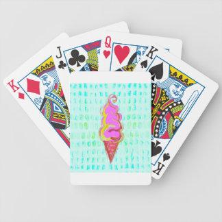 Abstrakte Eiscreme Bicycle Spielkarten