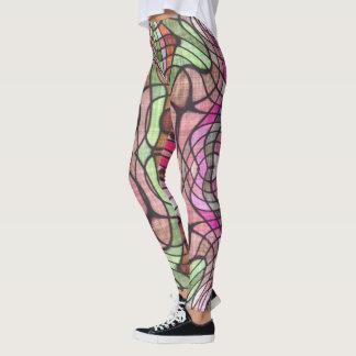 Abstrakte Entwurfsgamaschen der Mosaik-Fliese Leggings
